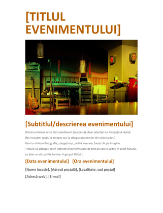 Fluturaș de eveniment (portocaliu)