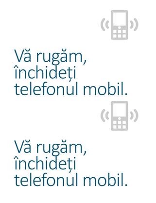 Poster aviz pentru închiderea telefoanelor mobile