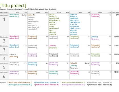 Cronologie pentru planificarea proiectelor