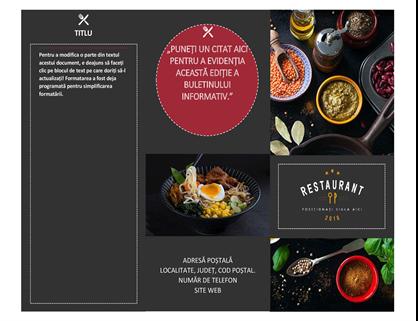 Broșură Restaurant