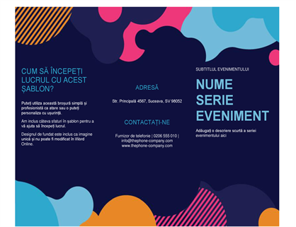 Broșură eveniment forme viu colorate