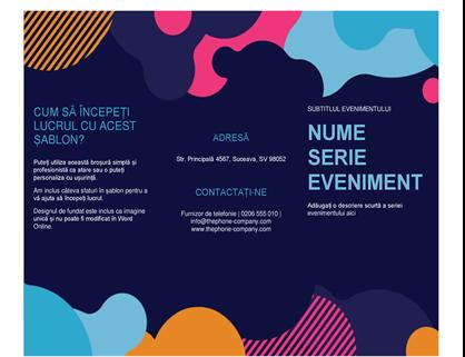 Broșură eveniment forme viu colorate