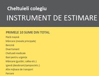 Estimator de cheltuieli pentru colegiu