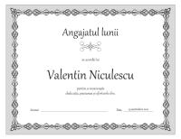 Diplomă, Angajatul lunii (proiect cu un lanț gri)