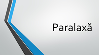 Paralaxă