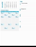 Calendar de planificare săptămânală pentru elevi (orice an, luni-duminică)