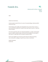 Antet de scrisoare personal