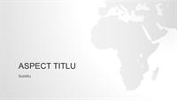 Seria de hărți ale lumii, prezentarea continentului african (ecran lat)
