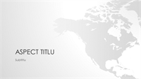 Seria de hărți ale lumii, prezentarea continentului nord-american (ecran lat)