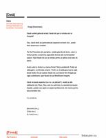 Antet de scrisoare (proiect roșu și negru)