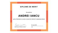 Diplomă (albastru)