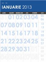 Calendar 2013-2014, multicolor (de luni până duminică)