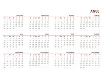 Calendar global pentru tot anul