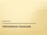 Prezentare de performanțe financiare