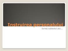 Prezentare de instruire a personalului