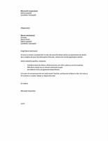 Scrisoare de intenție ca urmare a anunțului, pe scurt