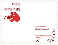 Felicitare de Ziua îndrăgostiților (model cu inimă)