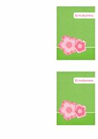 Felicitare de mulțumire (design floral)