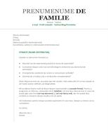 Scrisoare de intenție pentru CV (cronologică)