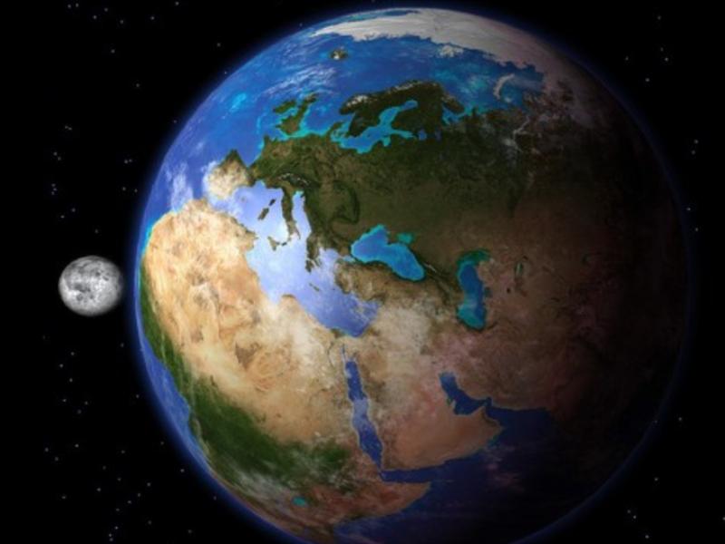 """Шаблон оформления """"Земля и Луна"""""""