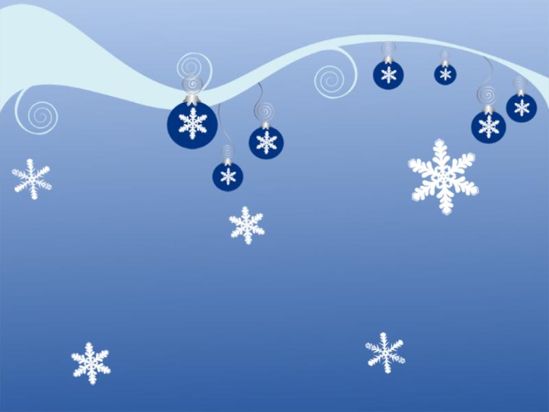 Шаблон оформления с новогодними шариками и снежинками