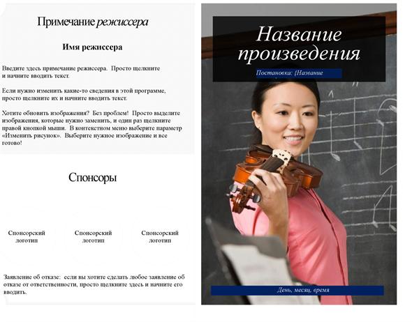 Программа представления в учебном заведении