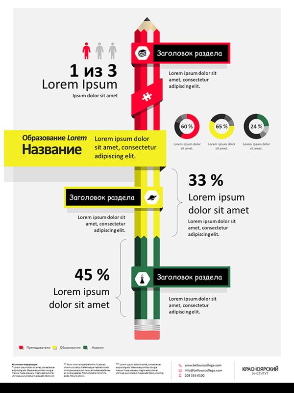 Плакат с инфографикой об образовании