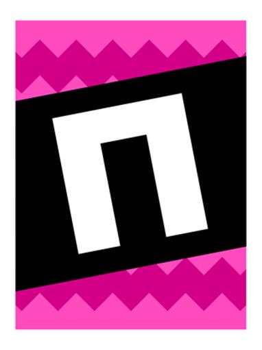 Плакат «Поздравляем» с графическим узором