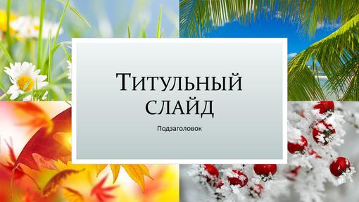 Презентация с природными мотивами «Времена года» (широкоэкранный формат)