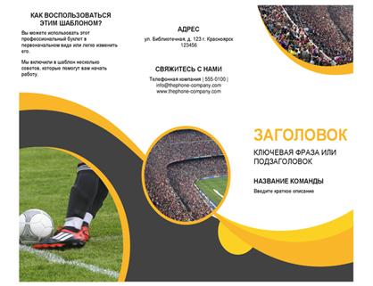 Буклет на спортивную тематику