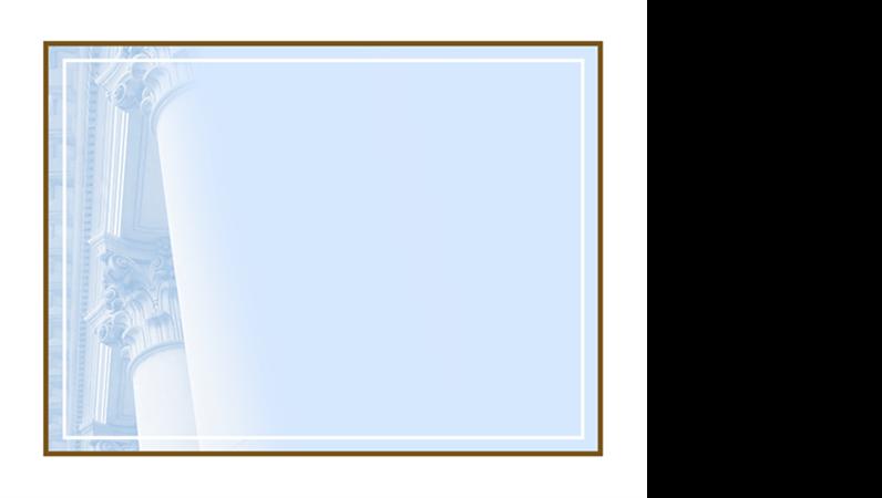 Шаблон оформления с коринфскими колоннами