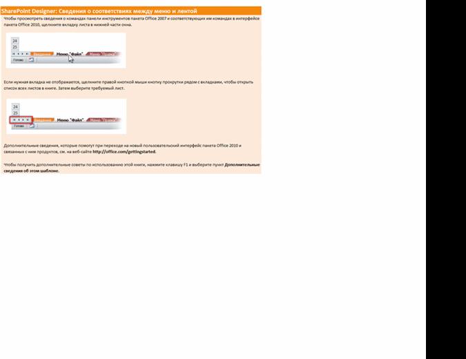SharePoint Designer 2010: справочник по переходу от меню к ленте