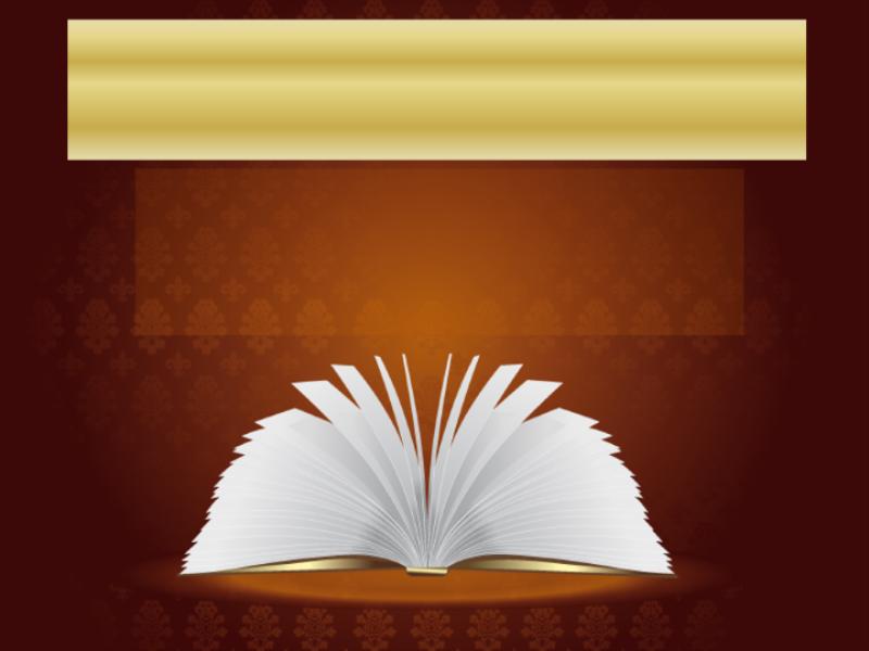 Шаблон оформления с открытой книгой