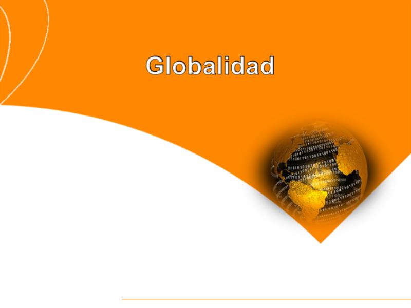 """Шаблон оформления """"Глобус на оранжевом фоне"""""""
