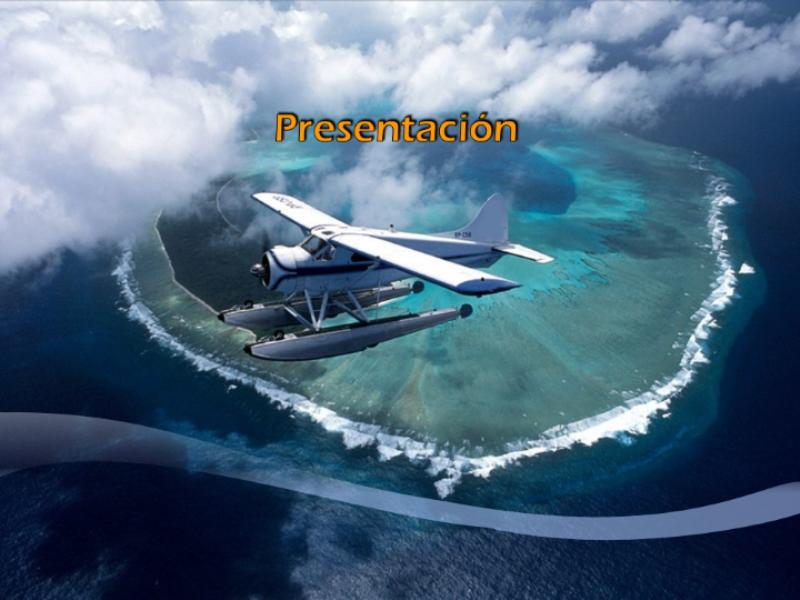 """Шаблон оформления """"Самолет над островом"""""""