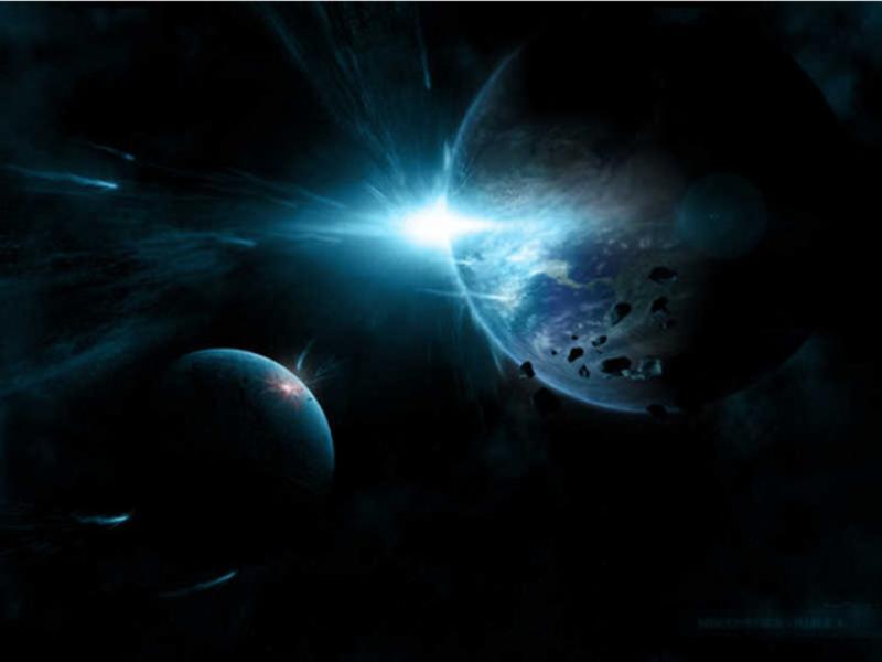 Шаблон оформления с планетами