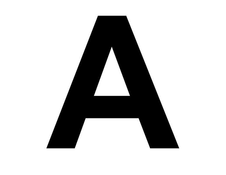 Буквы и цифры для плаката (8,5x11)
