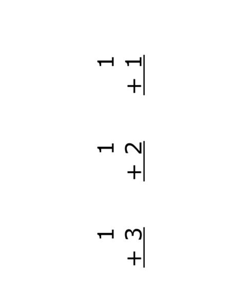 """Карточки """"Сложение"""" (на лицевой стороне: уравнения; соответствует Avery 5388)"""