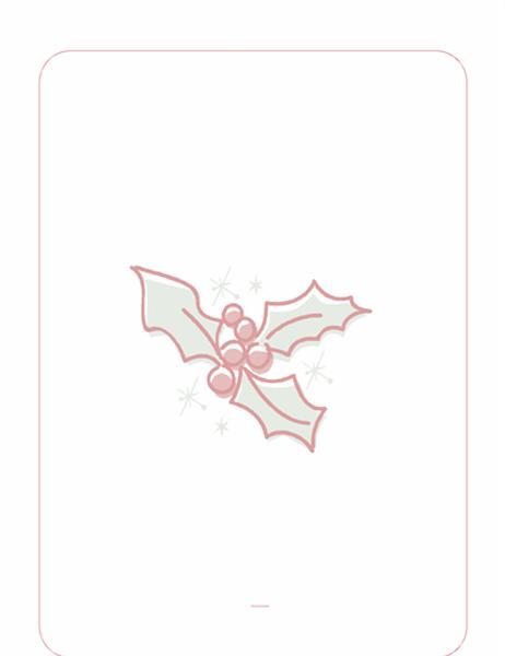 Праздничный бланк (подложка с листом остролиста)