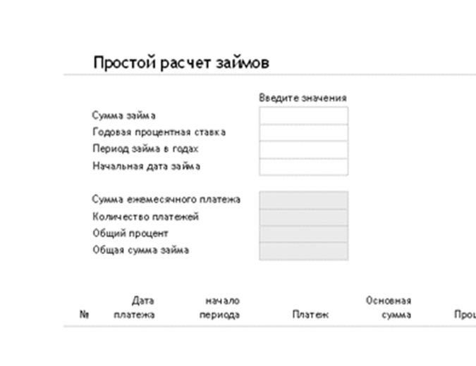 расчет кредита онлайн калькулятор windows 10