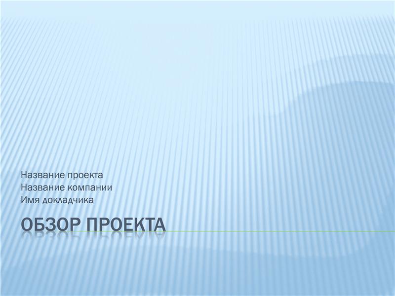 Презентация общих сведений о проекте