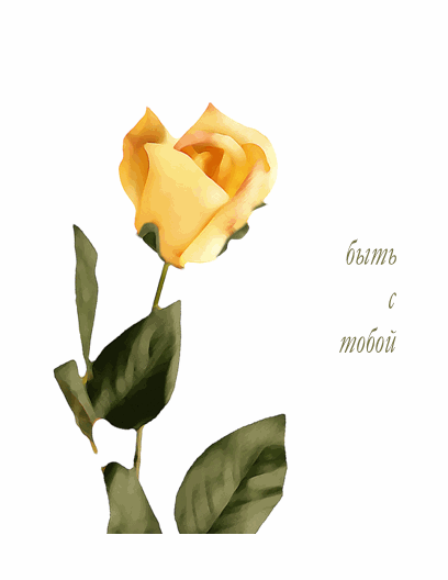 Романтическая открытка (с розой)