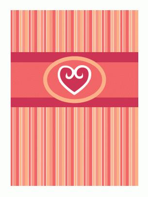 Открытка с признанием в любви (в красных тонах)