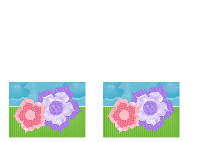 """Приглашение на праздник (оформление """"Цветы"""")"""