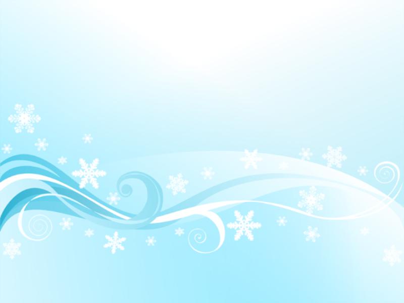 Шаблон оформления с завитушками и снежинками