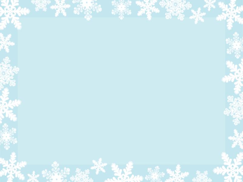Шаблон оформления сo снежинками