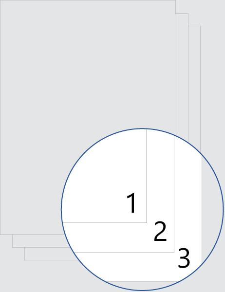 Нумерация всех страниц (внизу)