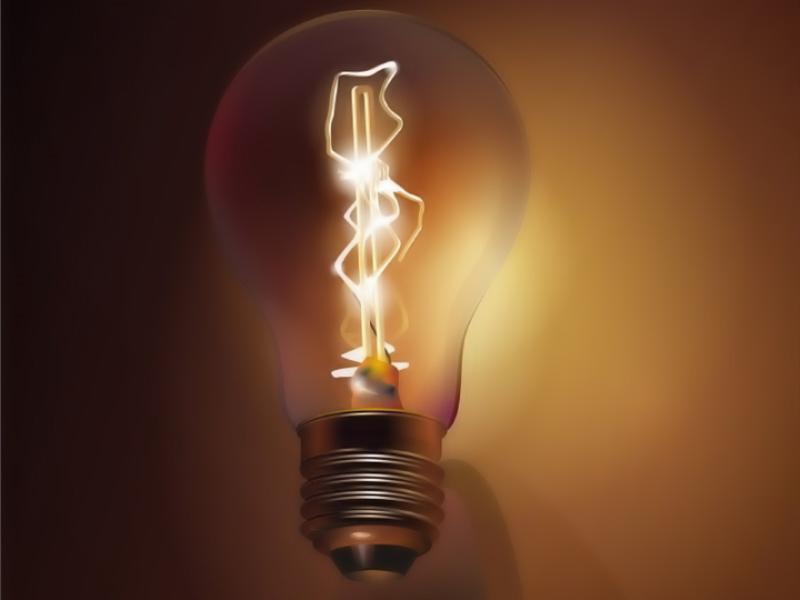 Шаблон оформления с лампочкой