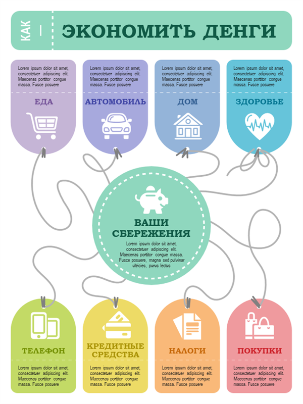 Плакат с финансовой инфографикой