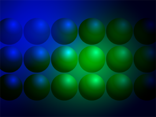 """Шаблон оформления """"Синие и зеленые шары"""""""